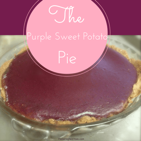 Purple sweet potato pie