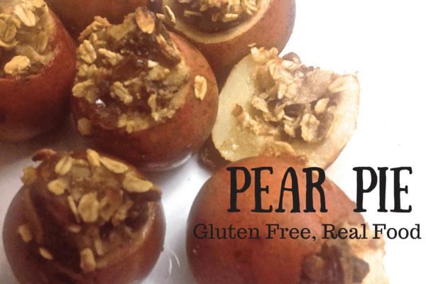 Gluten Free Pear Pie