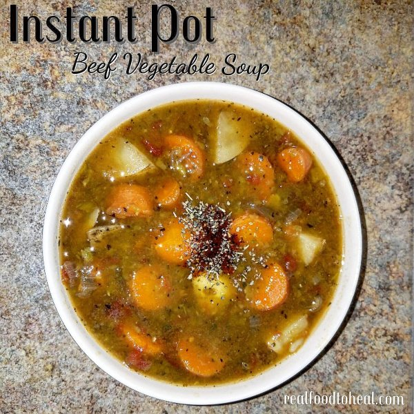 instant pot beef vegetable soup