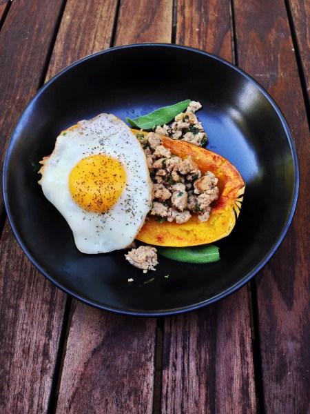 Breakfast Stuffed Delicata Squash - Real Food with Dana