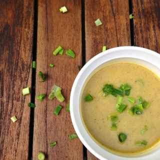 Silky Zucchini & Roasted Cauliflower Ginger Soup