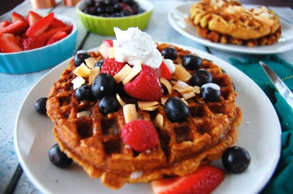 Paleo Berries & Cream Waffles - Real Food with Dana
