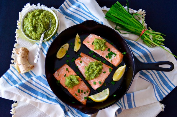 Perfect Roasted Salmon & Ginger-Scallion Sauce - Real Food with Dana
