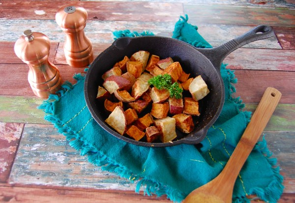 Ginger-Garlic Roasted Sweet Potatoes - Real Food with Dana