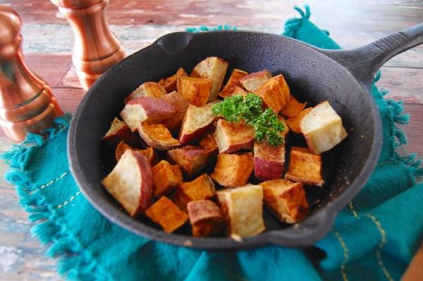 Ginger-Garlic Roasted Sweet Potatoes - Real Food with Dana