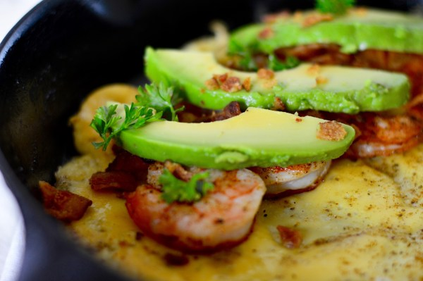 Shrimp, Bacon, and Avocado stuffed Chesapeake Omelet - Real Food with Dana