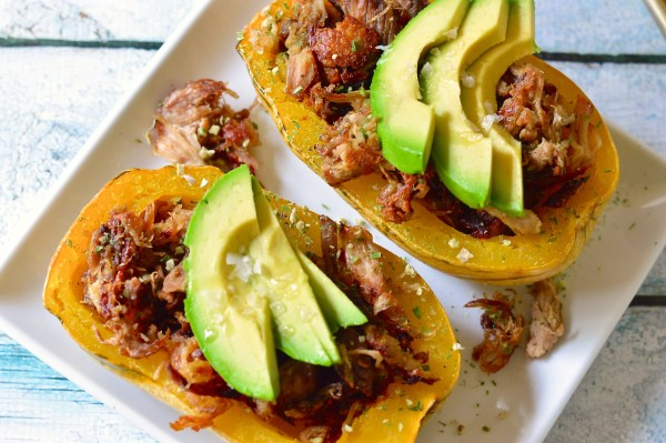 Pulled Pork Stuffed Squash - Real Food with Dana