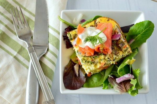 Smoked Salmon Frittata with Lemon-Caper Aioli | Real Food with Dana