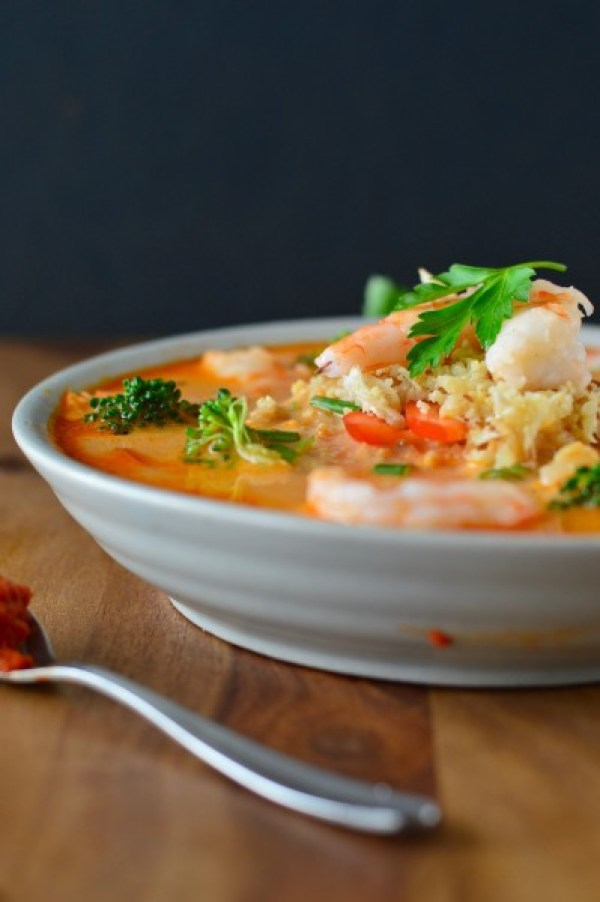 Coconut Red Curry Shrimp Soup | Real Food with Dana