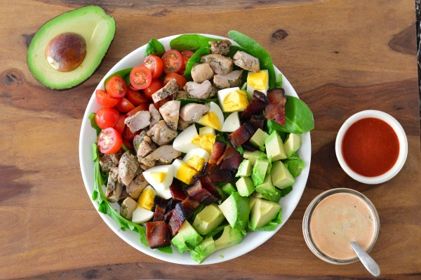 Sriracha Ranch Chicken Cobb Salad | Real Food with Dana