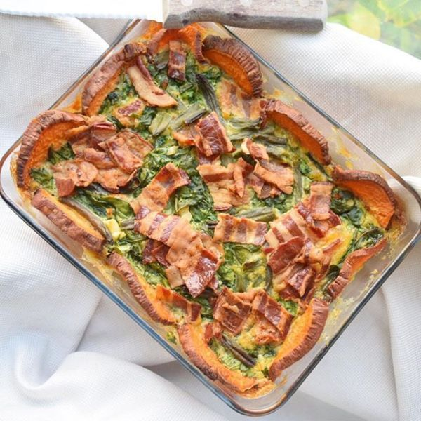 Creamy Bacon Quiche with Sweet Potato Crust | The Castaway Kitchen