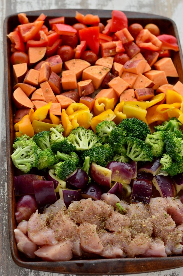 Chicken & Veggies Meal Prep Sheet Pan Bake | Real Food with Dana