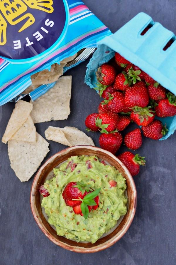 Strawberry Basil Guacamole   Real Food with Dana
