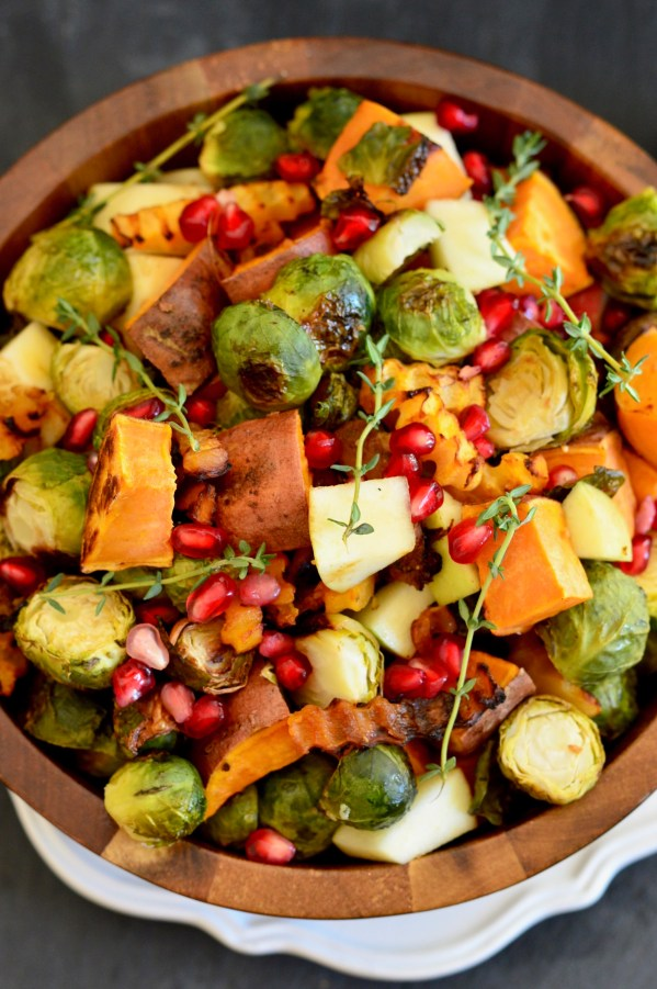 Roasted Brussels Sprouts & Butternut Squash Salad with Maple-Peanut Dressing | Real Food with Dana