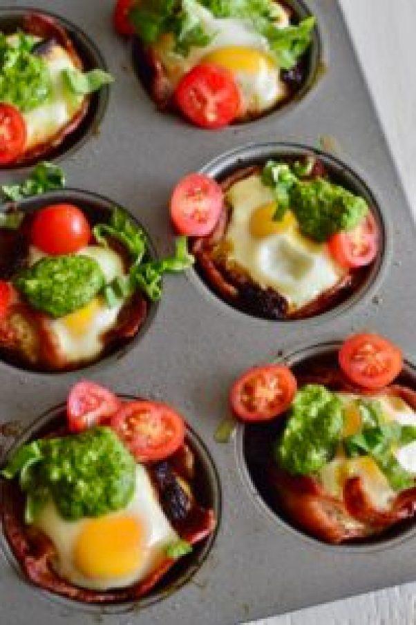 Pesto & Bacon Egg Cups | Real Food with Dana