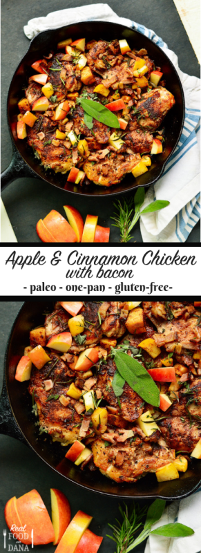 One-Pan Apple & Cinnamon Chicken with Bacon | Real Food with Dana