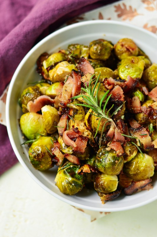 Maple Dijon Brussels Sprouts with Bacon | Real Food with Dana