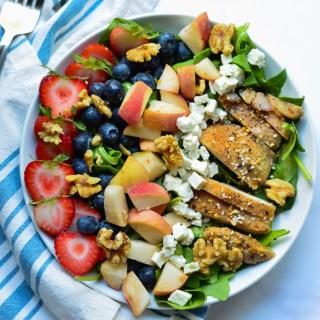 Strawberry Poppyseed Chicken Salad (Gluten-Free Panera Copycat) | Real Food with Dana