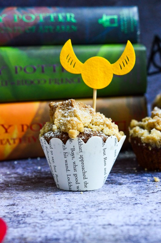 Pumpkin Crumb Cake Muffins (Gluten-Free & Harry Potter-Filled) | Real Food with Dana