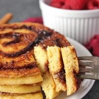 Paleo Cinnamon Roll Pancakes