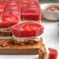 Paleo Strawberry Pretzel Salad