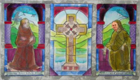 First scale design for stained glass tryptich