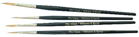 Tracing brushes from PELI Glass and Williams & Byrne