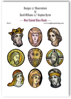 9 stained glass heads