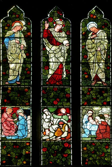 The east window, Saint Mary's, Whitton - made by Edward Burne-Jones' studio