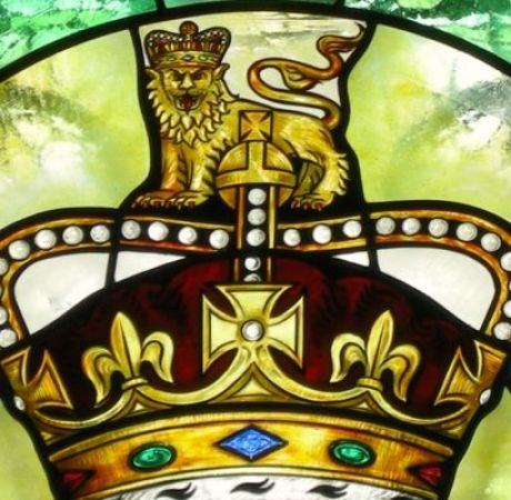 Stained glass coronation crown