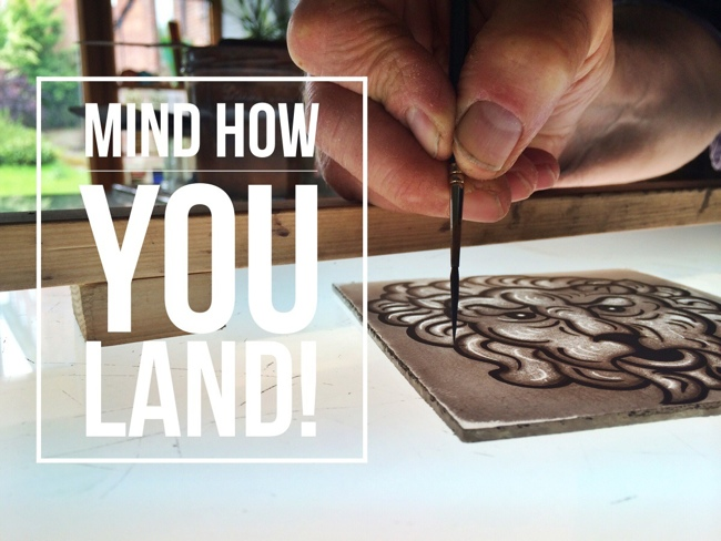 Stained glass tracing - how you land