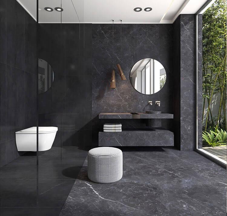 bathroom tile ideas use large tiles