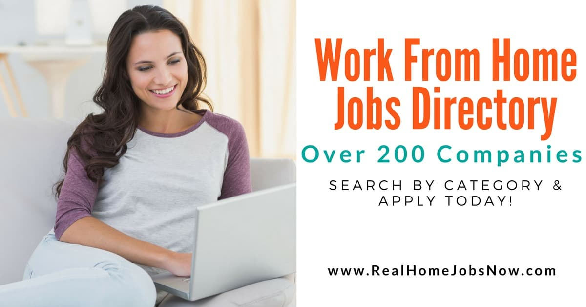 Legitimate Work From Home Jobs Directory With Over 200