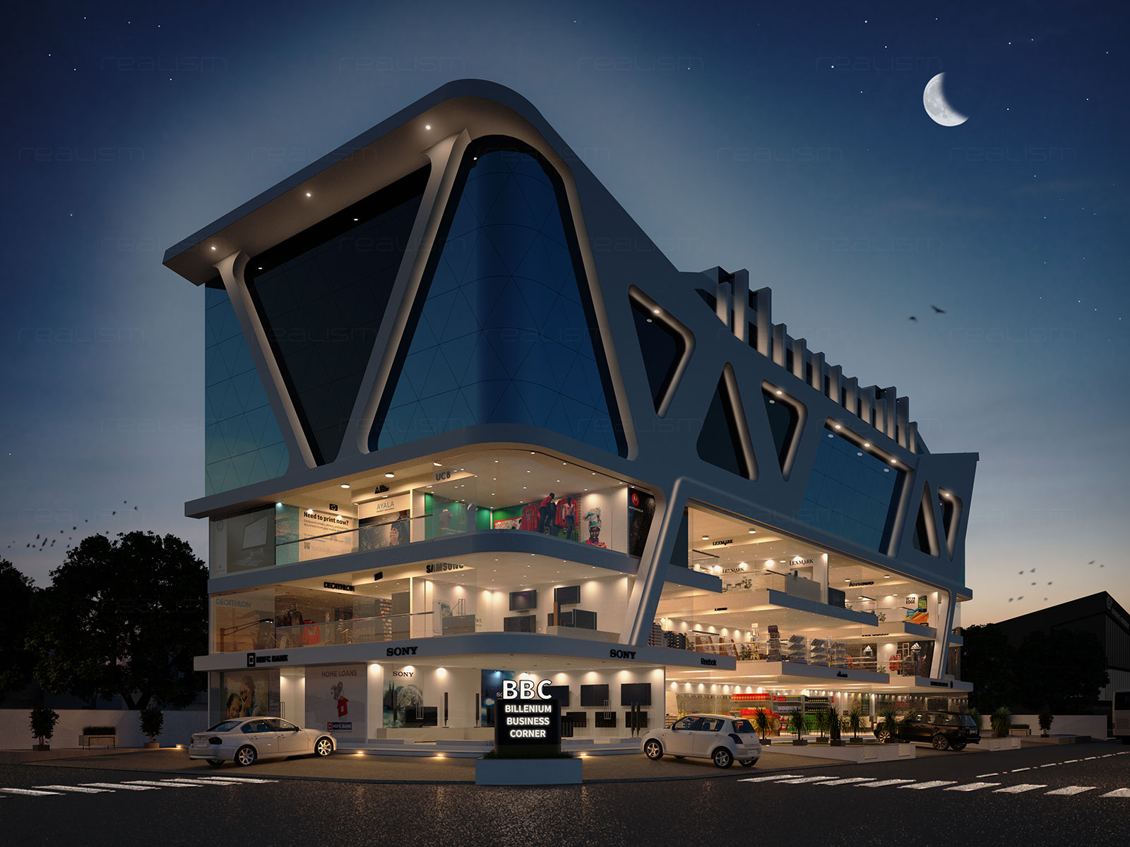 Realism Architectural 3D Exterior Rendering Views