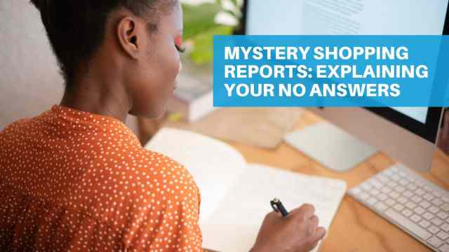 Mystery Shopping Evaluation The Premier Mystery Shopping Company