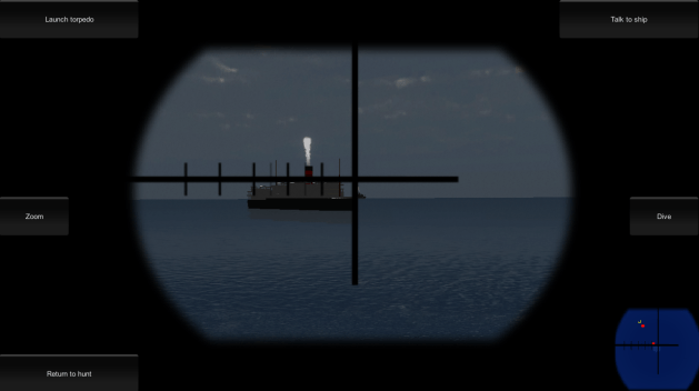From an earlier version of the game showing the periscope view.