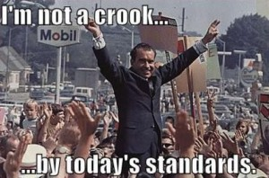 """Nixon explains to the nation that he is detaching the dollar from gold to """"stabilise"""" the dollar"""