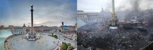 Kiev Today Vs Yesterday