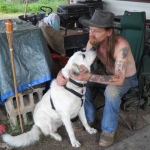 Art and his Dog