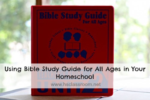 Using Bible Study Guide for All Ages in Your Homeschool