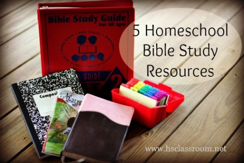 Homeschool Bible Study Resources