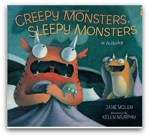 creepy monster, sleepy monster