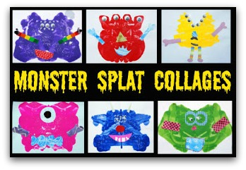 monster splat collages