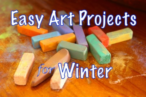 easy art projects for winter