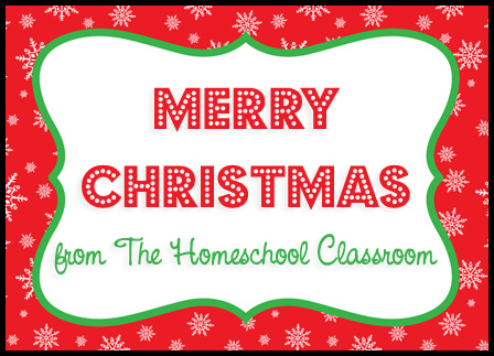 Merry Christmas from The Homeschool Classroom