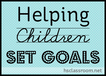 helping children plan and set goals