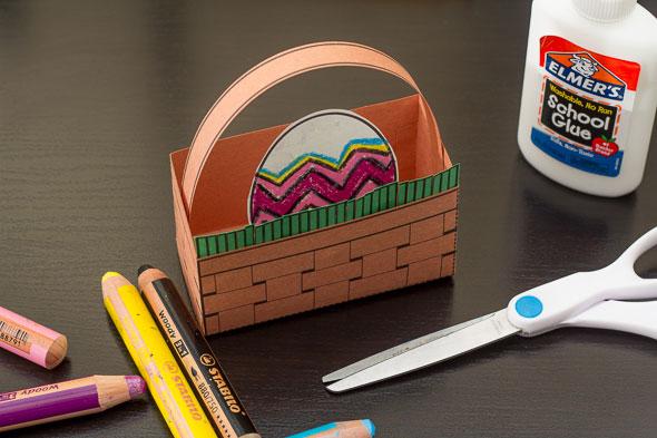 Easter basket craft step 10