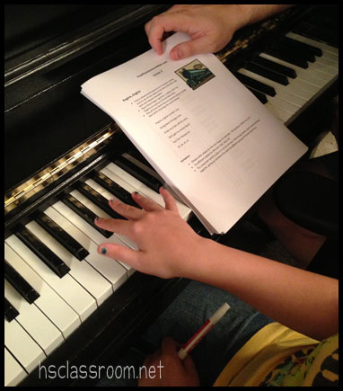 Practicing with FreePianoLessons4Kids