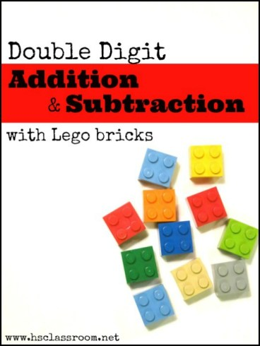 Double Digit Addtion and Subtraction with Lego Bricks | The Homeschool Classroom