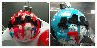 Snowman Handprint Ornaments